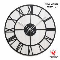 Jam Dinding Besar - OLD TOWN - Diameter 42 CM Jumbo