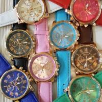 jam tangan geneva kulit rose gold - Putih