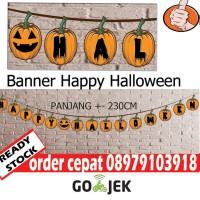 jual banner tulisan happy halloween dekorasi halloween murah jakarta