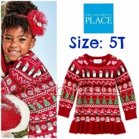 DRESS THE CHILDRENS PLACE KNIT DRESS ANAK PEREMPUAN BRANDED NATAL BAJU