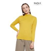 NOA everyday MICHI Turtleneck Sweater Wanita Basic Women Sweater Knit