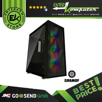 Casing CUBE GAMING GRAMOF BLACK - ATX - LEFT SIDE TEMPERED GLASS