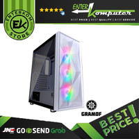 Casing CUBE GAMING GRAMOF WHITE - ATX - LEFT SIDE TEMPERED GLASS