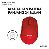 LOGITECH M331 Mouse Wireless Silent Plus 100% original garansi 1 tahun