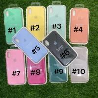 Silicone Case Warna Model Ori Anti Jamur iPhone X
