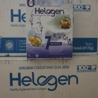 collagen drink HELOGEN minuman coklat.khas gula aren