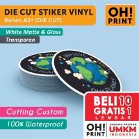 Cetak Stiker Label Vinyl / Transparan A3 DIE CUT / Cetak Label Kemasan