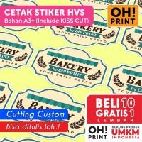 Cetak Stiker Label HVS A3+ CUT / Cetak Stiker Kertas HVS