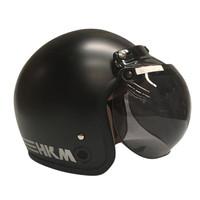 Helm Retro Line Black Doff HKM (Free kaca helm)
