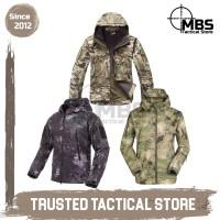 Jaket TAD Camo Tactical Army TAD Jacket Camouflage Jaket Motor Hiking - Black Python, M