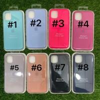 Silicone Case Warna Model Ori Anti Jamur iPhone 11