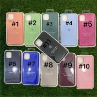 Silicone Case Warna Model Ori Anti Jamur iPhone 11 Pro Max