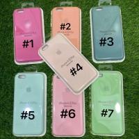 Silicone Case Warna Model Ori Anti Jamur iPhone 6 Plus