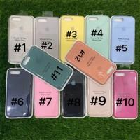 Silicone Case Warna Model Ori Anti Jamur iPhone 7 Plus/ 8 Plus