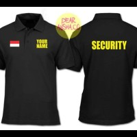 PRODUK TERBAIK POLO SHIRT KAOS KERAH SECURITY CUSTOM BLACK 1507 - DEAR