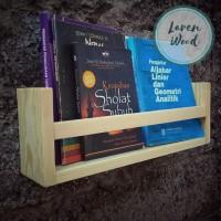 Jual Rak Dinding Buku/Majalah Kayu Jati Belanda - Natural Tbk