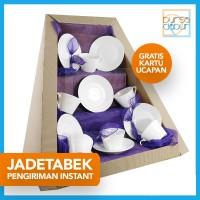 Parcel Bursa Dapur Jadetabek White Tea Set
