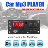 Kit Modul Mp3 Bluetooth HiFi Player LCD Musik USB Mobil Motor 12 Volt
