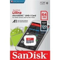 Sandisk 64GB 64 GB Ultra 120 mb/s Micro SD SDXC Card A1 UHS-1