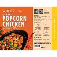 Deep Fry Saltesse Popcorn Chicken 300gr with Saus Padang 180gr