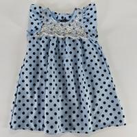 Dress Anak Kualitas Bagus Dan Halus Nyaman Terusan 1 -3 Thn Polkadot