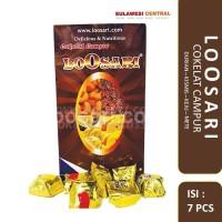 Cokelat LOOSARI (Durian, Kismis, Keju, Mete) khas sulawesi isi 7 pcs