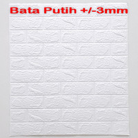 Wallpaper Dinding 3D 70 x 77 cm Brick Foam / Motif Bata 3mm