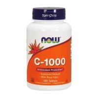 Now Foods Vitamin C 1000 mg 100 Tabs Rose Hips Food Vit-C 1000mg