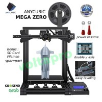 Printer 3D Anycubic Mega Zero, Dual Y Axis, Double gear extrution.