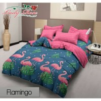 Ladyrose Bedcover King 180 Corak Flamingo