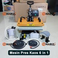 Mesin Press Kaos 6 In 1 Digital All In One Alat Hotpress Sablon Baju