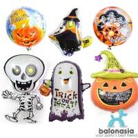 MURAH!!! 5pcs Set Dekorasi Balon Foil Halloween / Trick or Treat