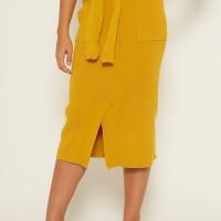 NOA Everyday Rok Rajut Wanita SEIJUN Women Midi Skirt Knitted