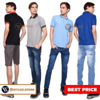 Kaos Polo Shirt Black Lacos Trendy Copy Sun / Eceran / Grosir - Warna Lain, XXS