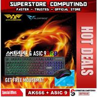 Armaggeddon AK666-AK666X Membran Gaming Keyboard Combo Alcatroz Asic 9