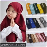 Jilbab Bergo Maryam Anak / Jilbab instan maryam kids