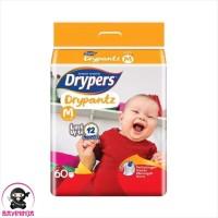 DRYPERS Drypantz Popok Celana Bayi 12 Jam M60 M 60