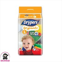 DRYPERS Drypantz Popok Celana Bayi 12 Jam L48 L 48