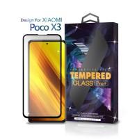 Tempered Glass Xiaomi Poco X3 Full Cover Black - Premium Glass Pro