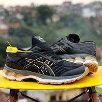 Sepatu Lari Pria Running Sport Olahraga Voli Asics Tiger Speedcross 57 - Hitam, 39