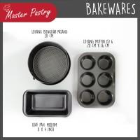 VALUE SET 3 PCS Muffin Pan 6 Cup / Loaf Pan Medium / Spring Form 20 cm