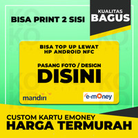 Etoll E-toll Emoney E-money Custom Print 2 Muka, Foto Saldo 0 EMONEY