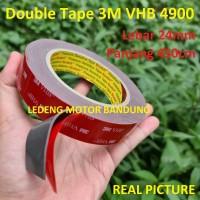 Double Tape 3M VHB 4900 size 24mm 450cm Lem Dobel Perekat Automotive