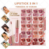 Lipstick, blush On, eyeshadow mousse 3 in 1kaya jojoba oil Lumecolors - COVER ONLY