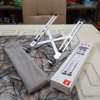 Portable laptop stand - Dudukan Laptop Aluminium - Meja Laptop - Silver