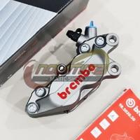 Kaliper Caliper Brembo ORI 1 Pin 4 Piston Grey NMAX XMAX Aerox 155