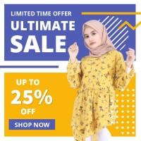 Blouse fashion Wanita busana muslim murah Terbaru kekinian B21