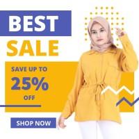 Blouse fashion Wanita busana muslim murah Terbaru kekinian B24