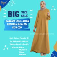Gamis Wanita Jessy Bahan Katun Toyobo Fit XL-XXXXL Cocok Untuk Busui