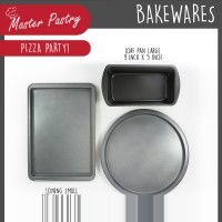 VALUE SET 3 PCS Cookie Pan Small / Loaf Pan Large / Pizza Pan 12 in